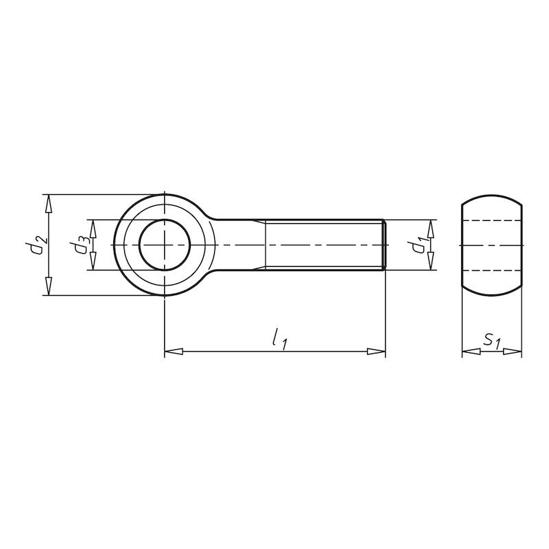 Augenschraube - SHR-AUG-DIN444-A4-B-M8X40
