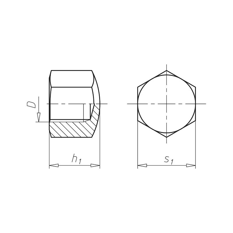 Sechskant-Hutmutter niedrige Form