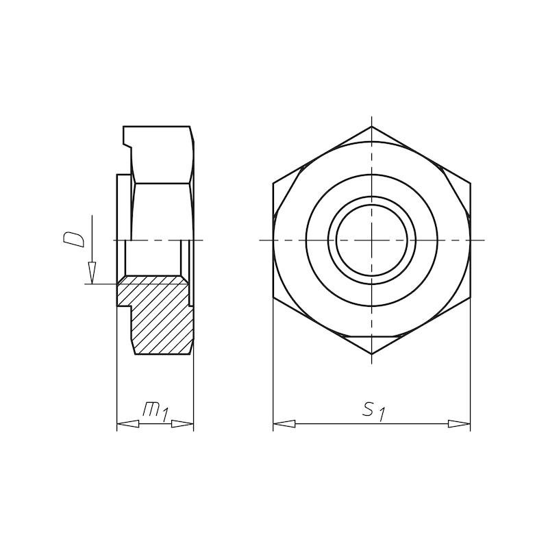 Sechskant-Schweißmutter - MU-SHWS-6KT-DIN929-A4-SW24-M16