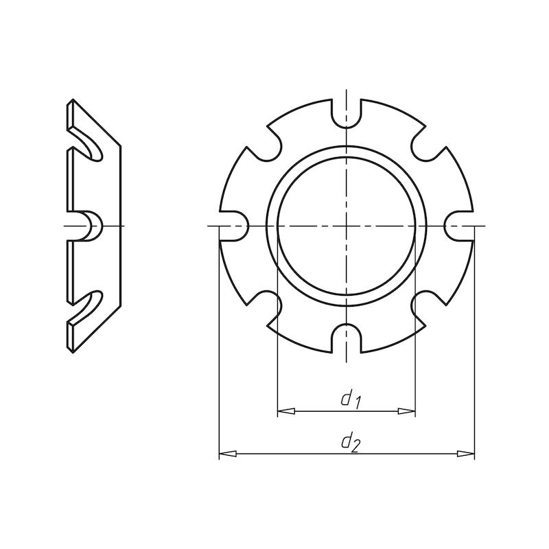 Zahnscheibe versenkbar Form V - SHB-ZA-DIN6797-V-(A2K)-D6,4