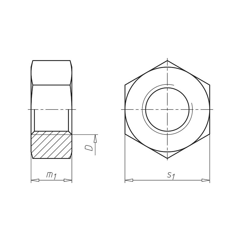Sechskantmutter für HV-Garnituren - MU-6KT-EN14399/4-10Z-K1-SW60-(TZN)-M36