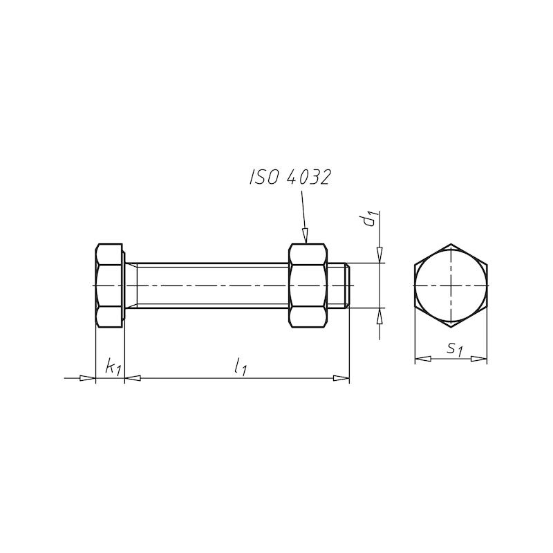 Sechskantschraube mit Gewinde bis Kopf SB-Garnitur DIN EN 15048-1 - 2