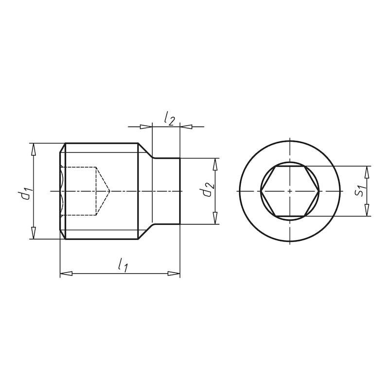 Pimli setskur, iç altı köşe - SETSKUR-ŞAFTL.DIN915-450HV-IH4(SYH)M8X20