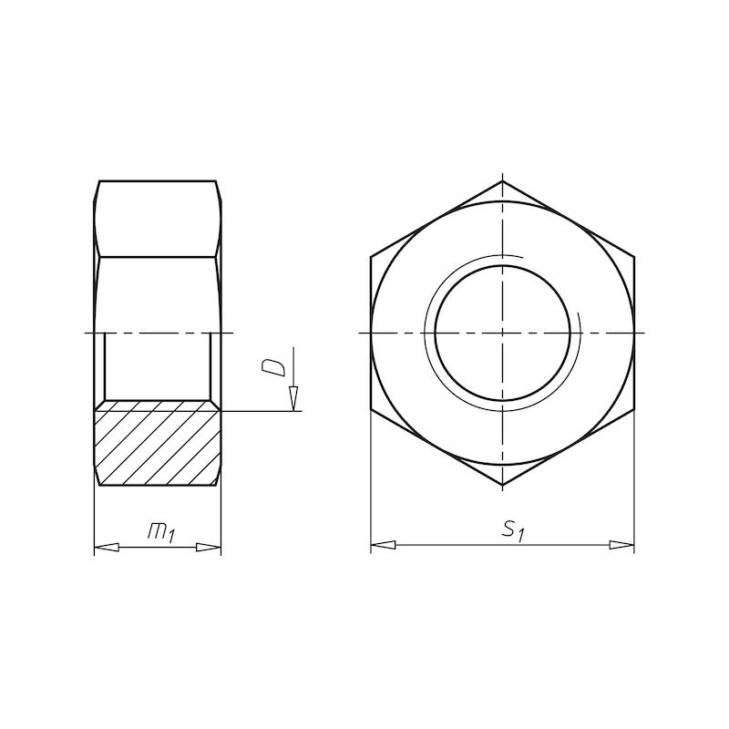 Sechskantmutter Zoll  - MU-6KT-UNF-GR5-(A2K)-18-9/16ZO
