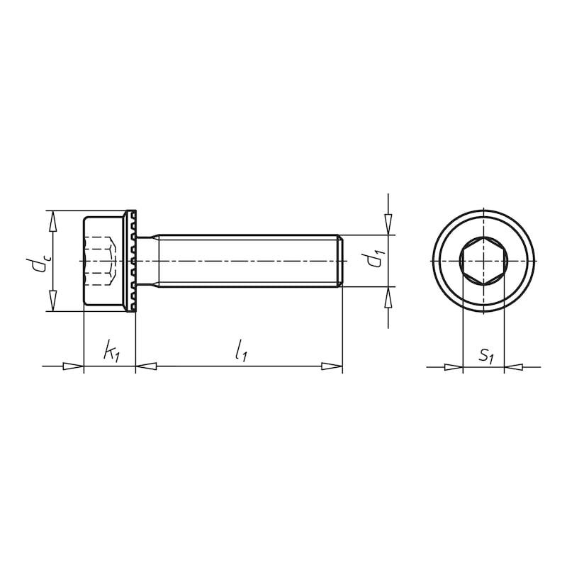 Rippschraube Zylinderkopf mit Innensechskant Inbus Ripp® - 2