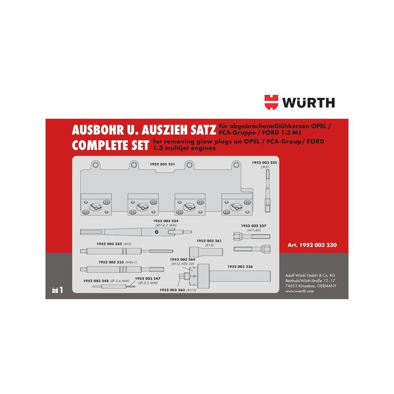 Glühkerzen-Werkzeug-Satz 1.3 Multijet Motoren, M8x1 Opel, Ford, FCA-Gruppe - 4