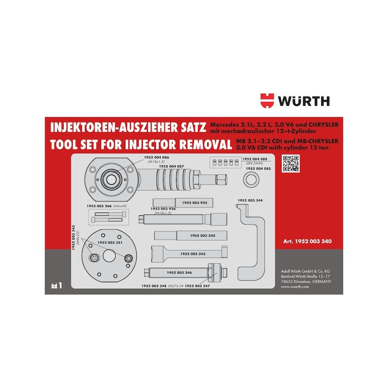 Kit de démontage pour injecteurs Bosch et Delphi sur moteurs Mercedes et Chrysler - 14