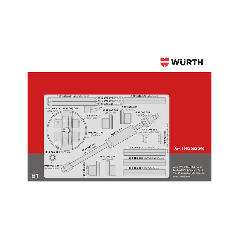 Kit d'outils de dépose de roulement de roue pour unités de moyeu de roulement compactes, mécanique Universel - 8