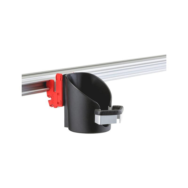 CLIP-O-FLEX<SUP>®</SUP> Halter Varioflex erweitert, offen  Halterung ohne Boden mit erweiterter Öffnung - COF-HALTER-VARIOFLEX-OHNE-BODEN-ERW