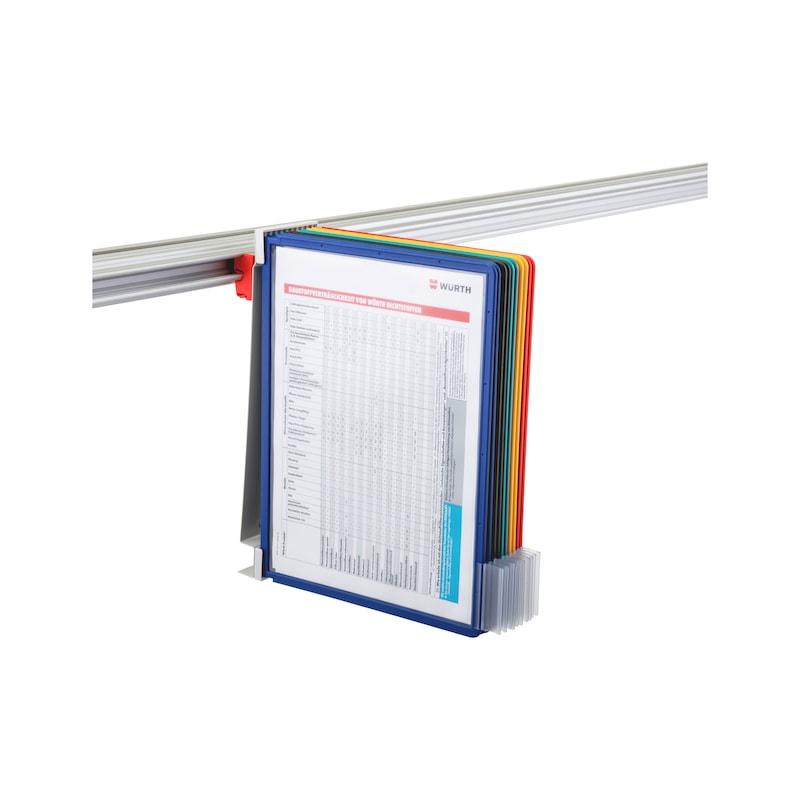 Holder for CLIP-O-FLEX rail Dokuflex - COF-HALTER-DOKUFLEX-DIN-A4-10FACH