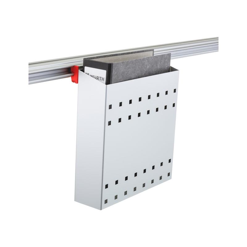 CLIP-O-FLEX<SUP>®</SUP> Halter Folderflex Halterung für DIN A4 Ordner schmal - COF-HALTER-FOLDERFLEX-DINA4-ORDNER