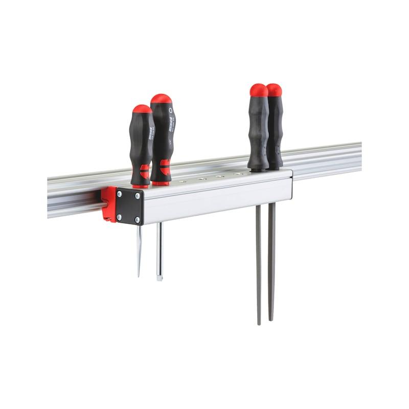CLIP-O-FLEX<SUP>®</SUP> Halter Screwdriverflex 2 Halterung für 8 Schraubendreher - COF-HALTER-SCREWDRIVEFLEX-8FACH