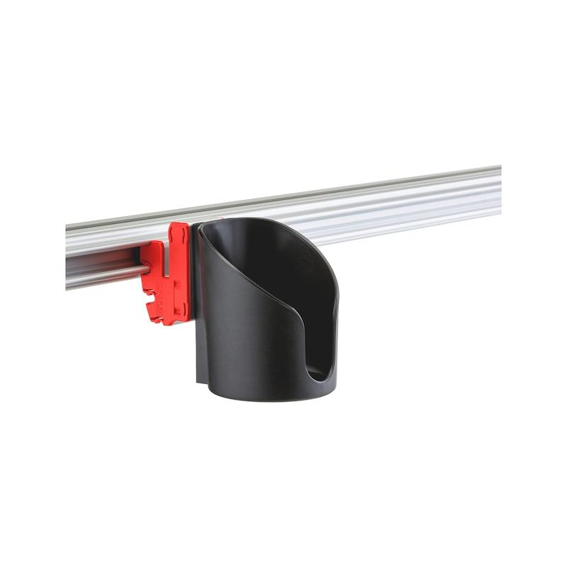 Holder for CLIP-O-FLEX rail Varioflex - COF-HALTER-VARIOFLEX-MIT-BODEN