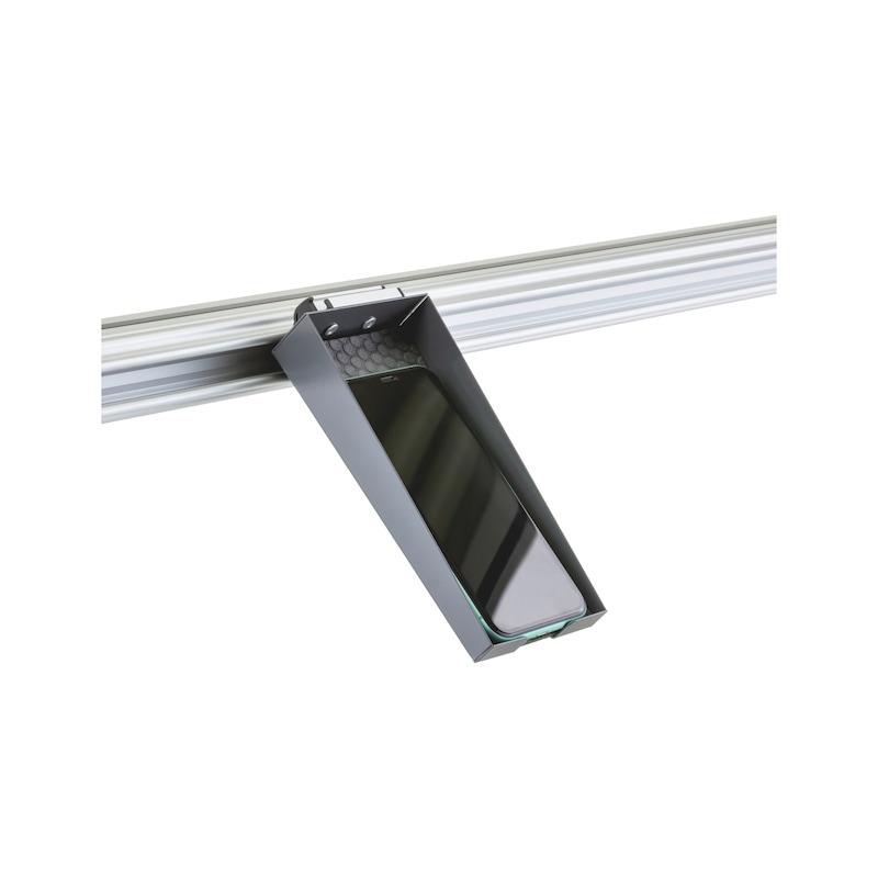 CLIP-O-FLEX<SUP>®</SUP> Tablar Smartphone Tablar zur Ablage von Mobiltelefonen mit Aussparung für Ladekabel - COF-TABLAR-SMARTPHONE-FÜR-IPHONE/GALAXY