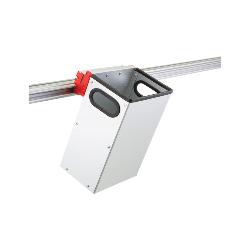 Holder for CLIP-O-FLEX rail Wasteflex - COF-HALTER-WASTEFLEX-9 LITER