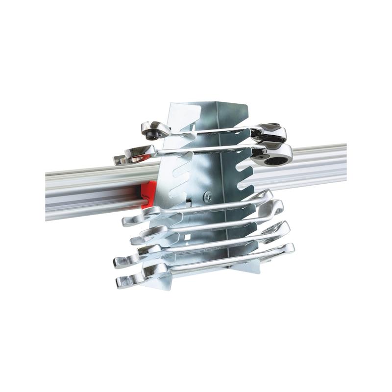 CLIP-O-FLEX<SUP>®</SUP> Halter Wrenchflex Halterung für bis zu 8 Schraubschlüssel - COF-HALTER-WRENCHFLEX-8FACH