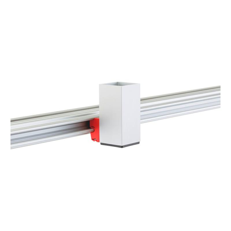 CLIP-O-FLEX<SUP>®</SUP> Halter Cableflex  Halterung aus 50 mm Vierkantrohr - COF-HALTER-CABLEFLEX-100MM