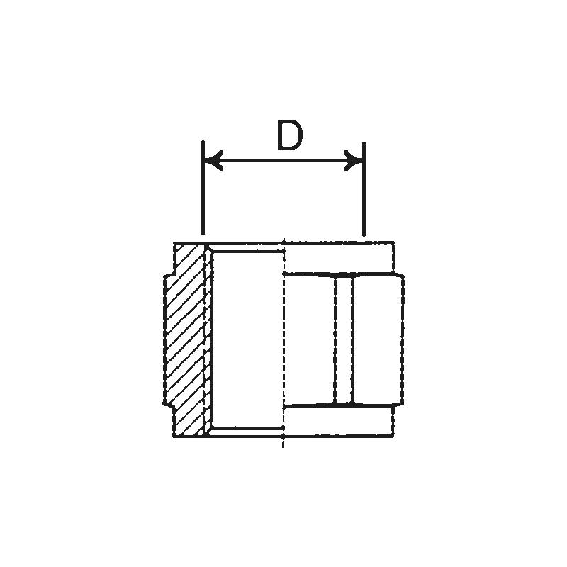 Manchon fileté BRK - 2