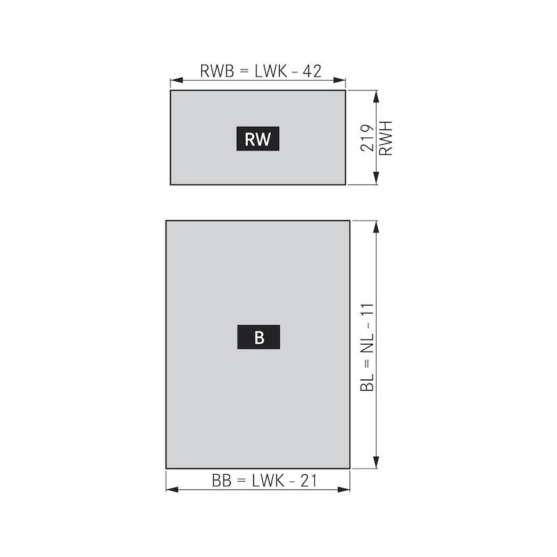 Zargen-Set Vionaro H249 - ZARGSYS-VION-SET-SILBRGRAU-H249-40KG-550