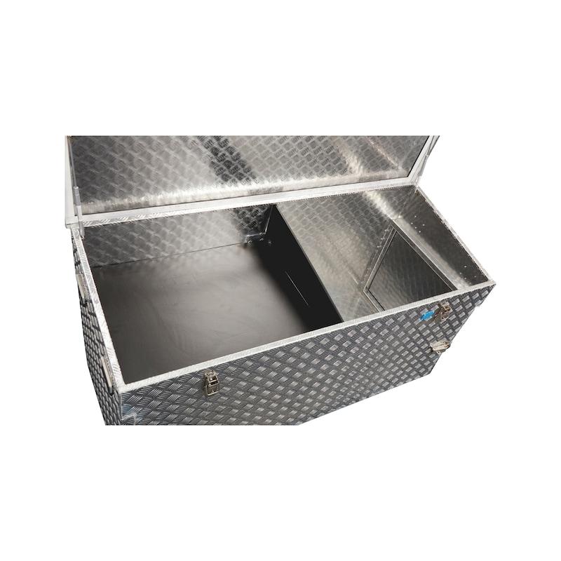 Storage kit for checker plate box, 883 litres - 2