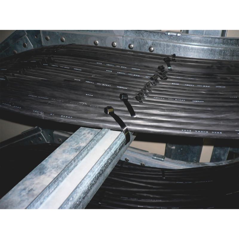 Kabelbinder KBL 2 schwarz mit Kunststoffzunge - 10