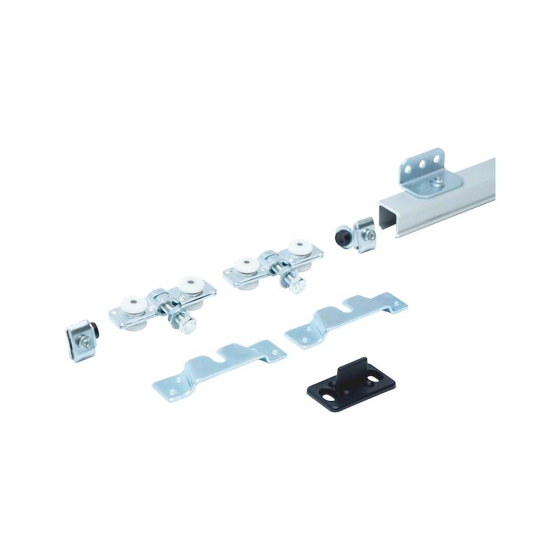 Zimmerschiebetürbeschlag-Set SCHIMOS 40-H-W - 1