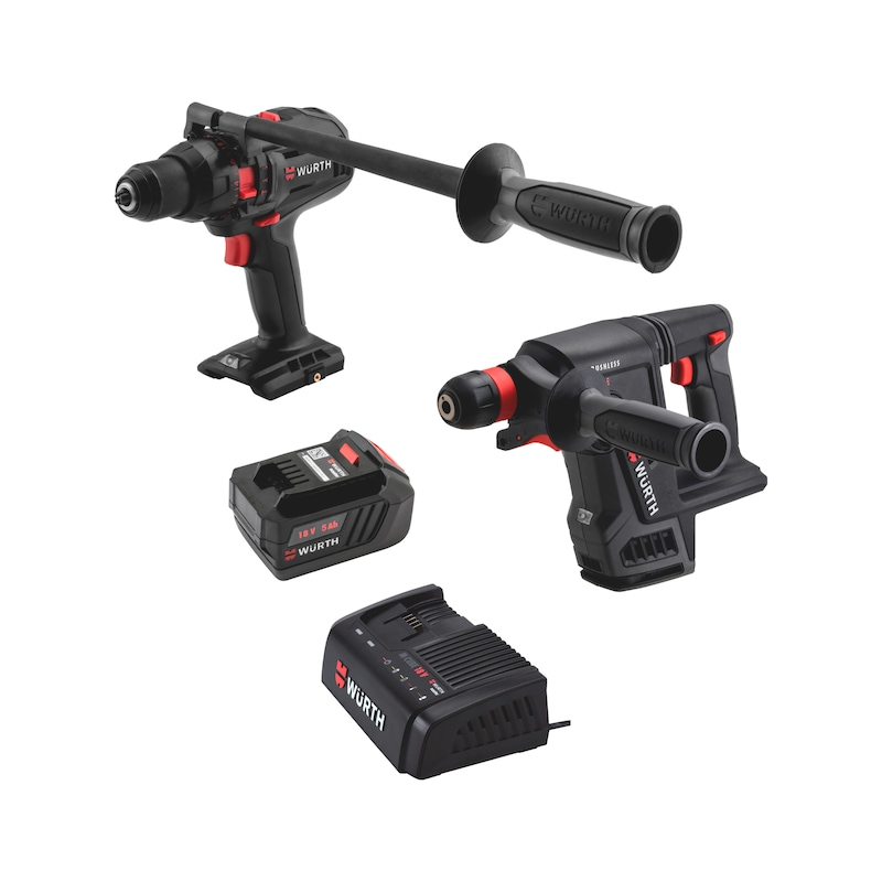 Akku-Schlagbohrschrauber-Bohrhammer Set - AKKU-BOHRSCHR ABS18 POW COMBI+ABH18 COMP