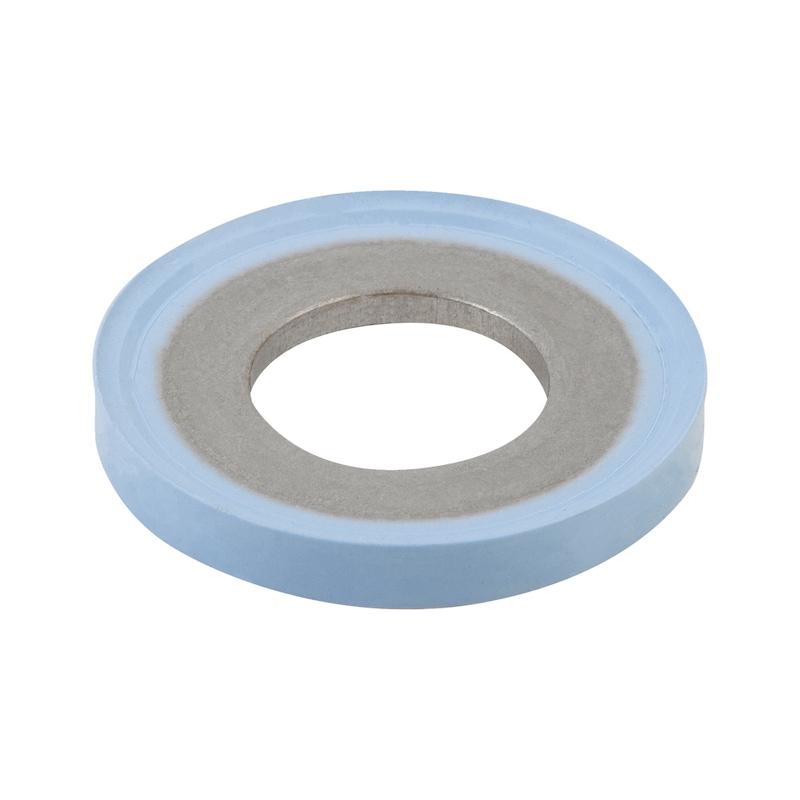 Hygienic USIT® Dicht- und Unterlegscheibe  75 Fluoroprene® XP 45 - blau - 1