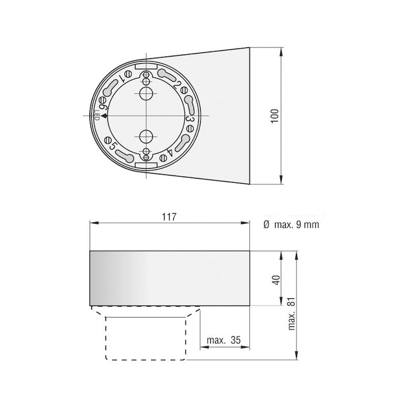 Sockel ORS 143 W für Rauchschalter - 2