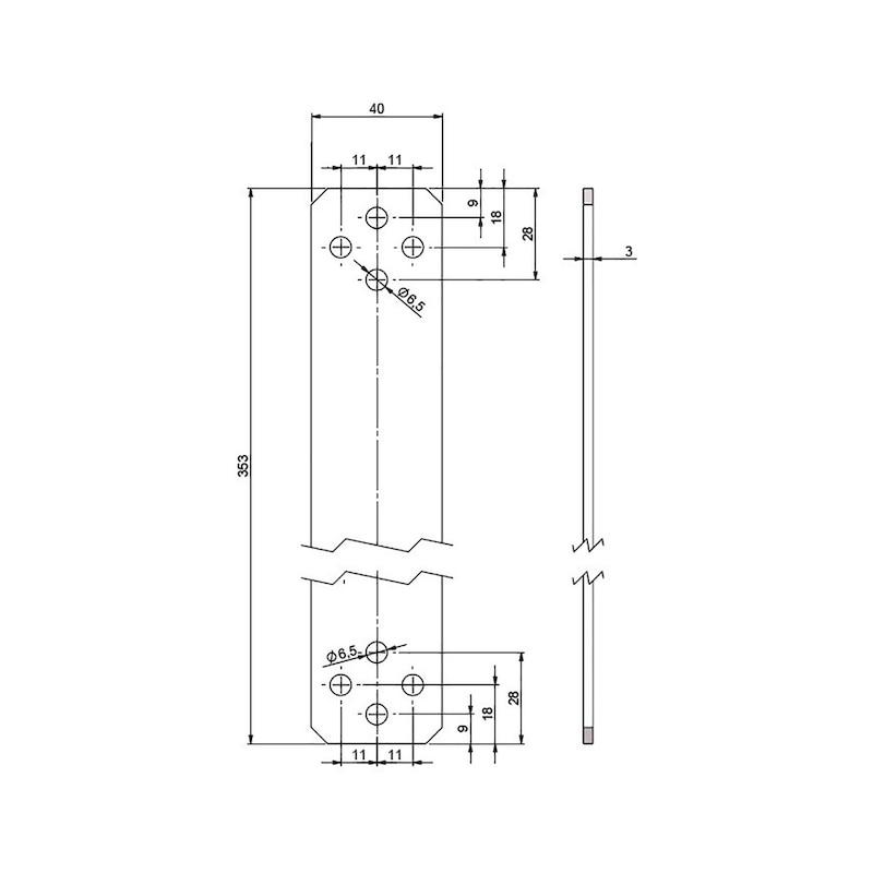 Geschossverbinder  für Zuganker zweiteilig - 2
