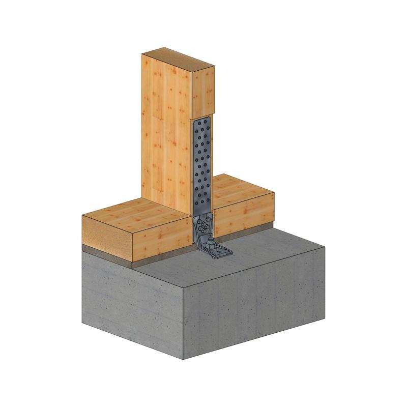 Rückenplatte für Zuganker zweiteilig - 3