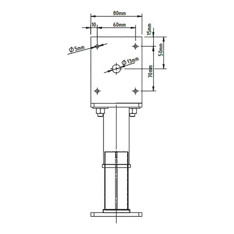 Pfostenträger D-G-H/R3R - 3