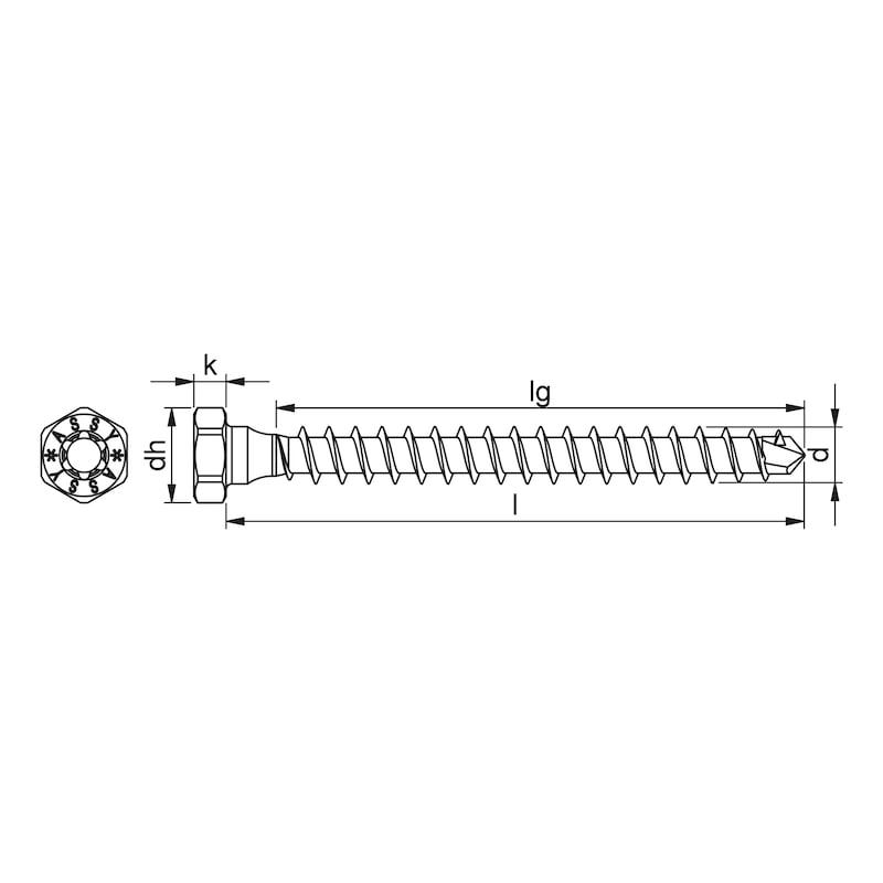 ASSY<SUP>®</SUP>plus VG 4 COMBI Konstruktionsschraube Stahl verzinkt Vollgewinde Sechskantkopf - 2