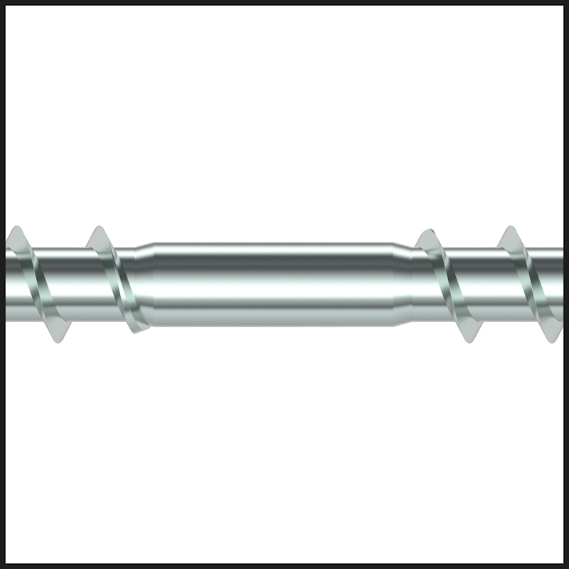 Vis de toiture ASSY<SUP>®</SUP> 4 Isotop Acier zingué, double filetage, tête cylindrique - 5
