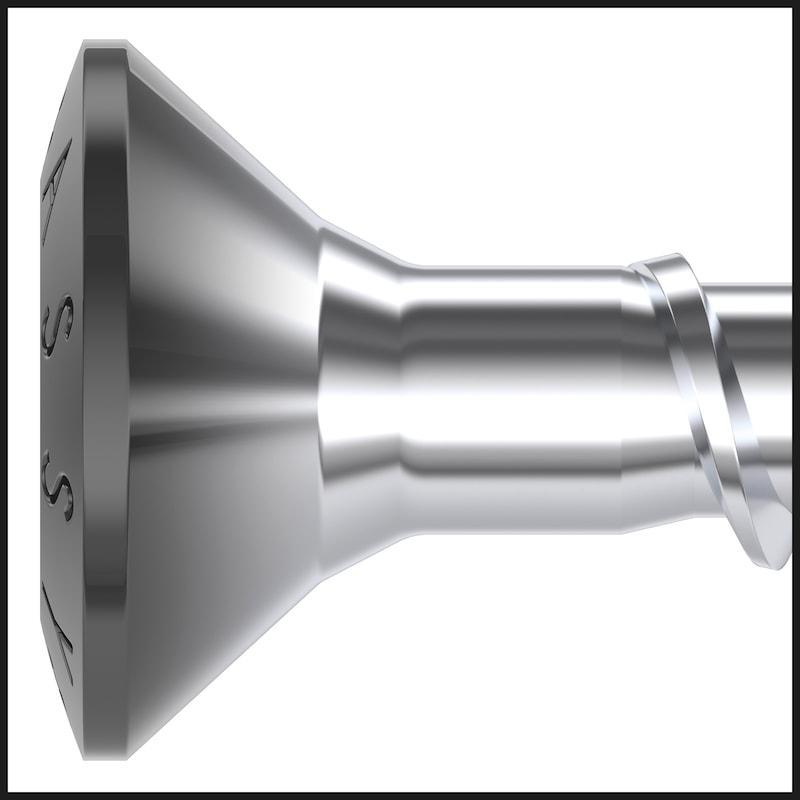 ASSY<SUP>®</SUP> 4 TRH Torbandschraube Stahl Zink-Nickel schwarz Vollgewinde Torbandkopf - 9