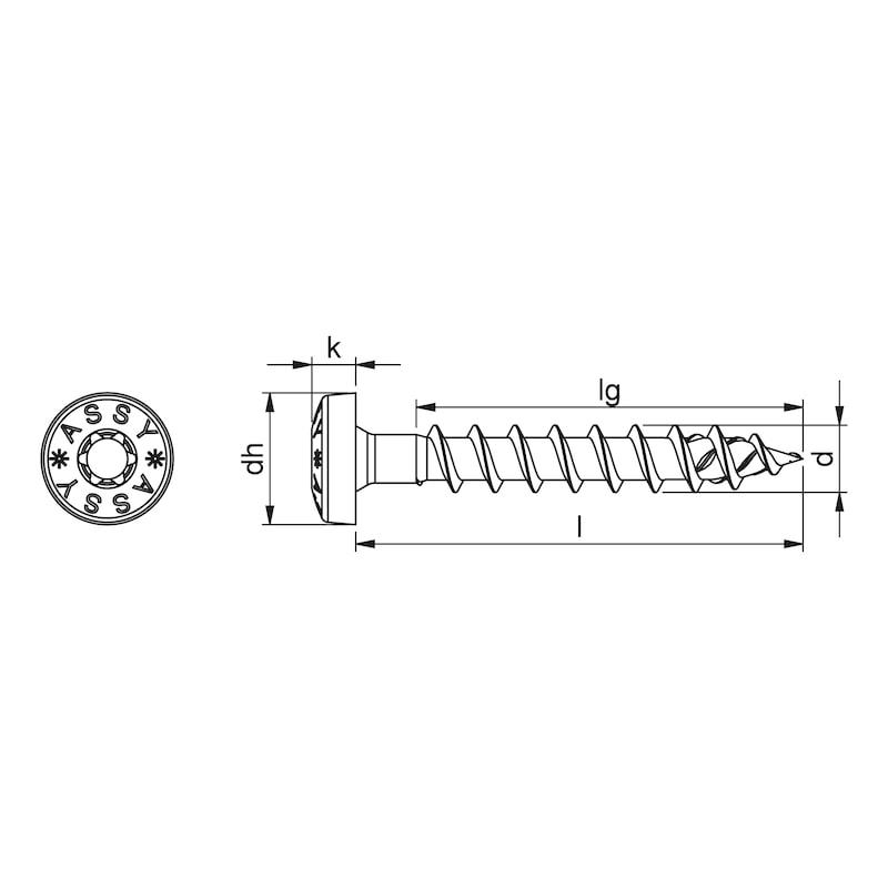 ASSY<SUP>®</SUP> 4 PH skrue til fittings Forzinket stål, fuldgevind, panhoved - 2