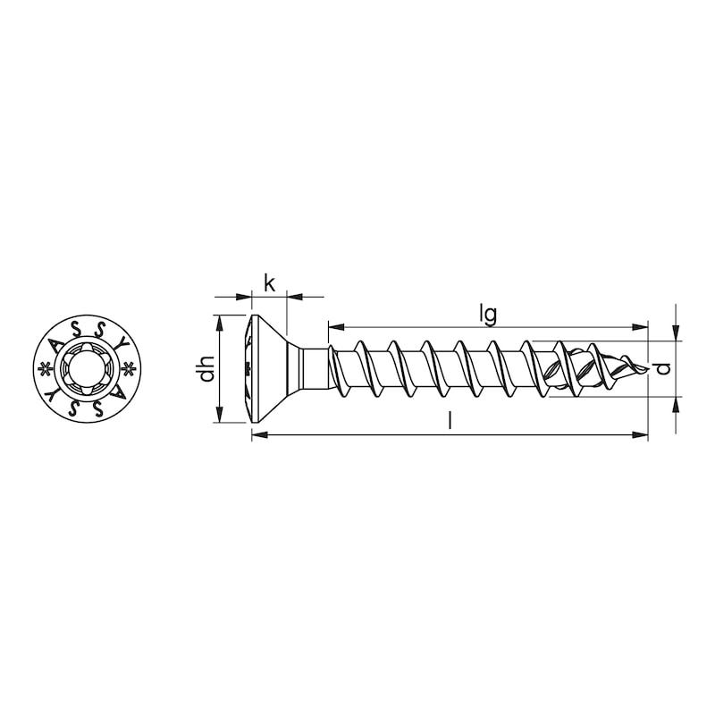ASSY<SUP>®</SUP> 4 RCS Beschlagschraube Stahl vernickelt Vollgewinde Linsensenkkopf - 2