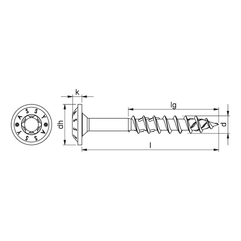 ASSY<SUP>®</SUP> 4 WH Tellerkopfschraube Stahl verzinkt Teilgewinde Scheibenkopf - 2