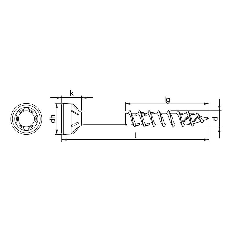 ASSY<SUP>®</SUP> 4 WW CSMR Holzbauschraube Stahl verzinkt Teilgewinde Senkfräskopf - 2