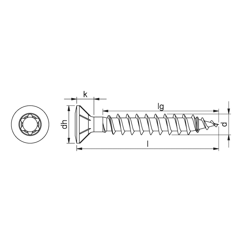 ASSY<SUP>®</SUP> 4 FBS RCS RS Rollensortierte Fensterbauschraube Stahl verzinkt Vollgewinde Linsensenkkopf - 2