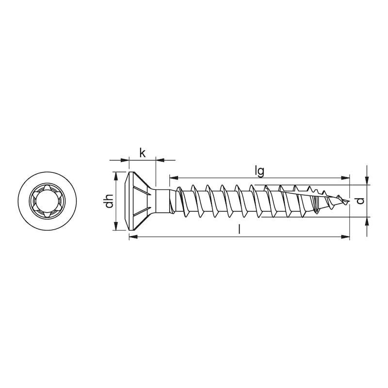 ASSY<SUP>®</SUP> 4 FBS CUT RCS Fensterbauschraube Stahl verzinkt Vollgewinde Linsensenkkopf - 2