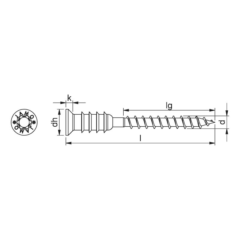 Jamo 4 CS Montageabstandschraube Stahl verzinkt Teilgewinde mit Unterkopfgewinde zur Justierung Senkkopf - 2