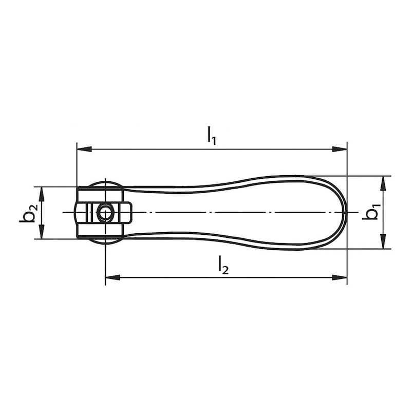 Alu-Exzenterhebel mit Außengewinde - 3