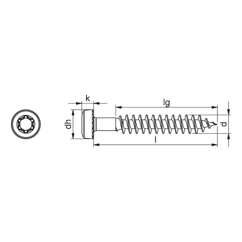 ASSY<SUP>®</SUP> 4 PH CARAVAN Topfverbinderschraube Stahl verzinkt Vollgewinde Pan Head - 2
