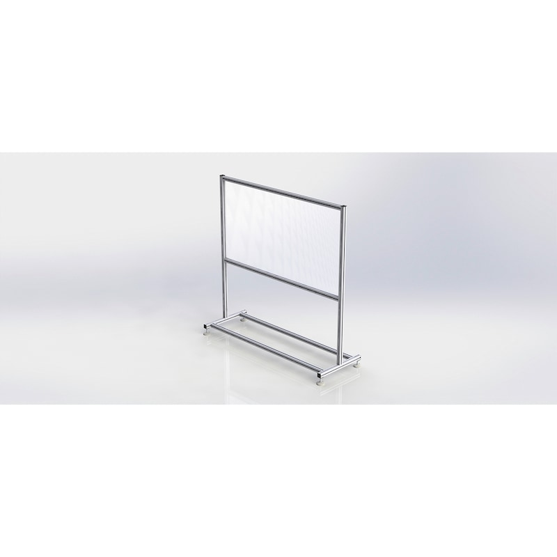 HygieneFLEX-Schutzwand Fest Aus Würth Aluminium-Profilsystem WAPS<SUP>® </SUP> - WAPS-HYGIENESCHTZWAND-FEST-1600X550X1900