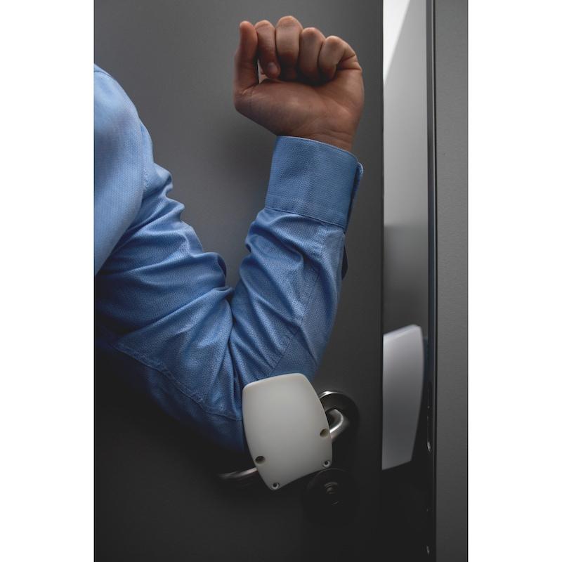 Support de poignée de porte Support de poignée de porte mains libres TYPE A - AY-DH-HANDS-FREE-ELLE-TYP-A-WHITE