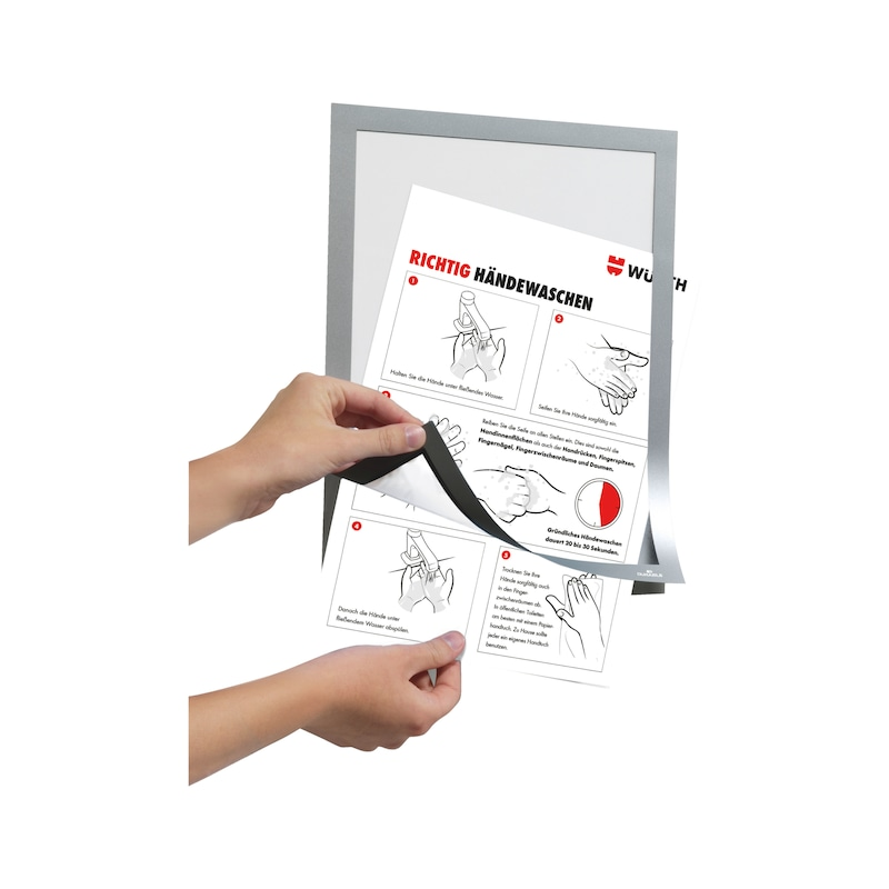 Info-Rahmen, selbstklebend - DOKUHALT-SELBSTKLBND-A4-SCHWARZ