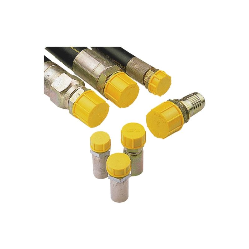 Schraubkappen GPN 800, für Rohrgewinde (Zoll) - SHRKA-GPN800-G1/4ZO-GELB