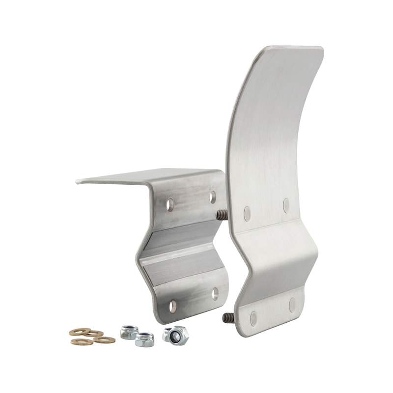 Door handle attachment Hands-free ELBOW TYPE B - AY-DH-HANDS-FREE-ELLE-TYP-B-STAINL-STEEL