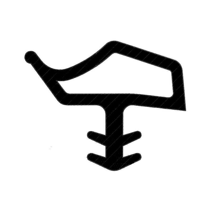Perfil de borracha para vedação de portas Forma H - 3
